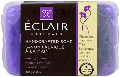 Baño, Belleza, Jabón Eclair Naturals, Handcrafted Soap, French Lavender, 6 oz (170 g)