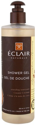 Baño, Belleza, Gel De Ducha Eclair Naturals, Shower Gel, Creamy Coconut, 12 fl oz (355 ml)