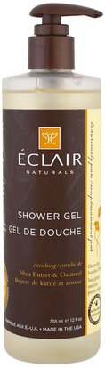 Baño, Belleza, Gel De Ducha Eclair Naturals, Shower Gel, Enriching, Shea Butter & Oatmeal, 12 fl oz (355 ml)