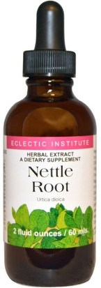 Hierbas, Ortigas, Picadura, Raíz De Ortiga Eclectic Institute, Nettle Root, 2 fl oz (60 ml)