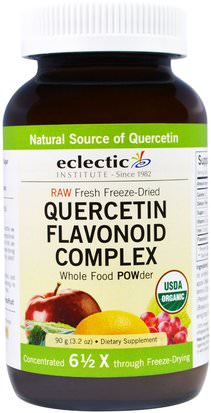 Suplementos, Quercetin Eclectic Institute, Quercetin Flavonoid Complex, Whole Food POWder, 3.2 oz (90 g)