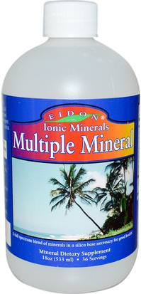 Suplementos, Minerales, Minerales Líquidos Eidon Mineral Supplements, Ionic Minerals, Multiple Mineral, 18oz (533 ml)