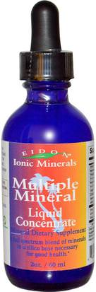 Suplementos, Minerales, Minerales Líquidos Eidon Mineral Supplements, Ionic Minerals, Multiple Mineral, Liquid Concentrate, 2 oz (60 ml)