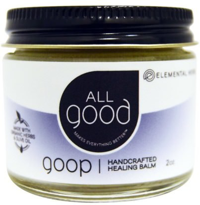 Salud, Piel, Lesiones Quemaduras All Good Products, All Good, Goop, Handcrafted Healing Balm, 2 oz