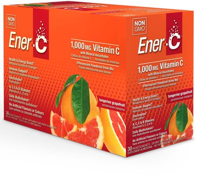 Vitaminas, Vitamina C Ener-C, Vitamin C, Effervescent Powdered Drink Mix, Tangerine Grapefruit, 30 Packets, 10.0 oz (283.5 g)