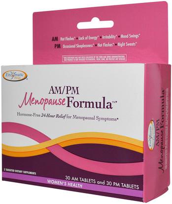 Salud, Mujeres, Menopausia Enzymatic Therapy, AM/PM Menopause Formula, Womens Formula, 60 Tablets