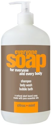 Baño, Belleza, Cabello, Cuero Cabelludo, Champú, Acondicionador EO Products, Everyone Soap for Everyone and Every Body, Citrus + Mint, 32 fl oz (960 ml)