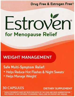 Salud, Mujeres, Menopausia Estroven, Menopause Relief, Weight Management, 30 Capsules
