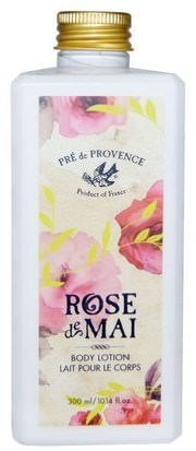 Baño, Belleza, Loción Corporal European Soaps, LLC, Pre de Provence, Rose de Mai Body Lotion, 10.14 fl oz (300 ml)