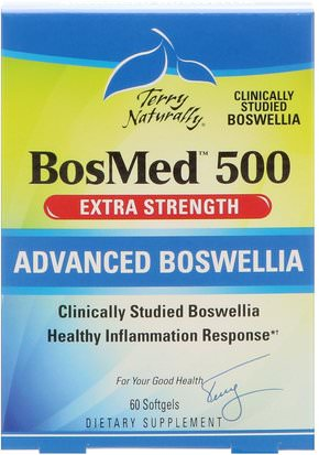 Suplementos, Salud, Mujeres, Boswellia EuroPharma, Terry Naturally, BosMed 500, Extra Strength, Advanced Boswellia, 500 mg, 60 Softgels