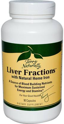 Salud, Energía EuroPharma, Terry Naturally, Liver Fractions, with Natural Heme Iron, 90 Capsules