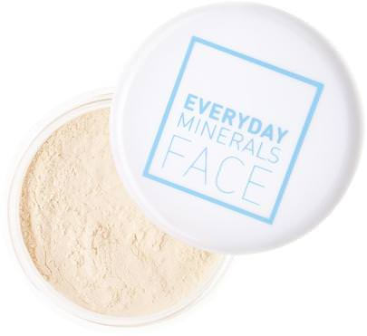 Baño, Belleza, Maquillaje, Cara De Minerales Todos Los Días, Polvo Compacto Everyday Minerals, Face, Finishing Powder, Finishing Dust.35 oz (10 g)