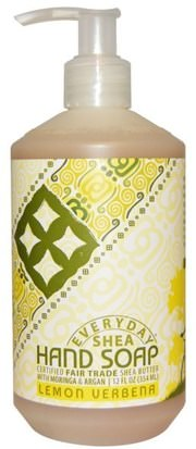 Baño, Belleza, Baño De Argán, Jabón Everyday Shea, Hand Soap, Lemon Verbena, 12 fl oz (354 ml)