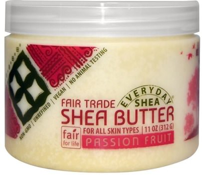 Baño, Belleza, Manteca De Karité Everyday Shea, Shea Butter, Passion Fruit, 11 oz (312 g)