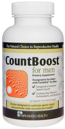 Salud, Hombres Fairhaven Health, CountBoost for Men, 60 Capsules