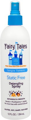 Salud, Gel Para El Cabello Fairy Tales, Detangling Spray, Static Free, Tangle Tamers, 12 fl oz (354 ml)