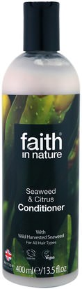 Baño, Belleza, Cabello, Cuero Cabelludo, Acondicionadores Faith in Nature, Conditioner, For All Hair Types, Seaweed & Citrus, 13.5 fl oz (400 ml)
