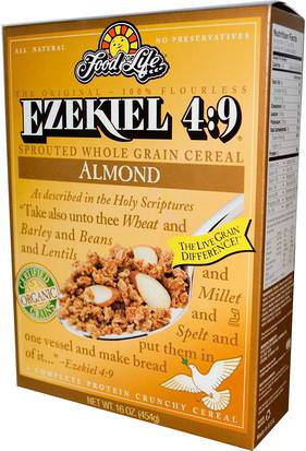 Alimentos, Alimentos, Cereales, Cereales Integrales Food For Life, Ezekiel 4:9, Sprouted Whole Grain Cereal, Almond, 16 oz (454 g)