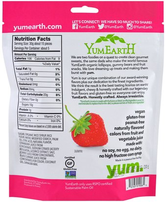 YumEarth, Soft Eating Gluten-Free Strawberry Licorice + Yum, 5 oz (142 g) Comida, Bocadillos, Dulces