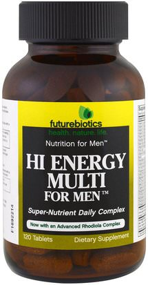 Vitaminas, Hombres Multivitaminas, Energía FutureBiotics, Hi Energy Multi, For Men, 120 Tablets