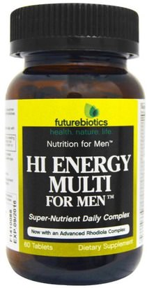 Vitaminas, Hombres Multivitaminas, Energía FutureBiotics, Hi Energy Multi, For Men, 60 Tablets