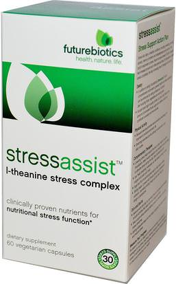 Salud, Anti Estrés FutureBiotics, Stressassist, 60 Veggie Caps