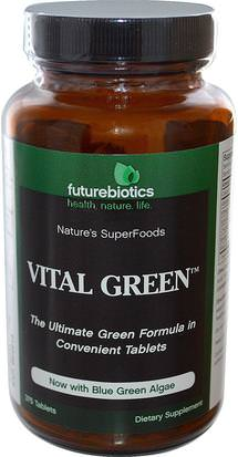 Suplementos, Superalimentos, Verdes FutureBiotics, Vital Green, 375 Tablets
