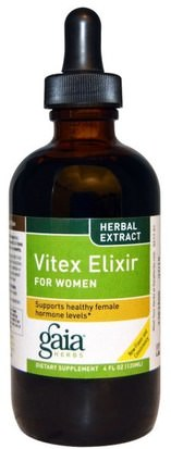 Hierbas, Casta Baya Gaia Herbs, Vitex Elixir, For Women, 4 fl oz (120 ml)