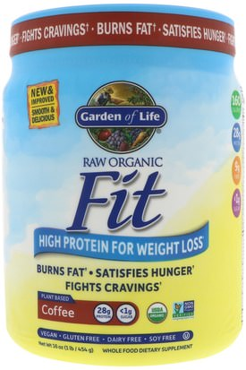 Salud, Dieta Garden of Life, Raw Organic Fit, High Protein for Weight Loss, Coffee, 16 oz (454 g)