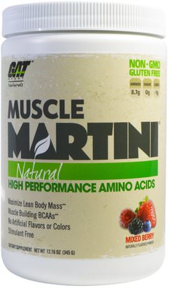 Deportes, Músculo GAT, Muscle Martini, Natural, Mixed Berry, 12.16 oz (345 g)