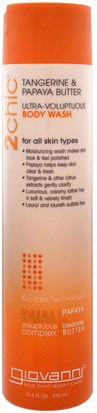 Baño, Belleza, Gel De Ducha Giovanni, 2Chic, Ultra-Voluptuous Body Wash, for All Skin Types, Tangerine & Papaya Butter, 10.5 fl oz (310 ml)