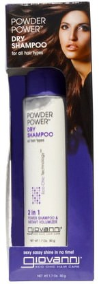 Baño, Belleza, Champú, Champú Seco Giovanni, Eco Chic Hair Care, Powder Power Dry Shampoo, 1.7 oz (50 g)