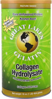 Comida, Keto Amigable, Hueso, Osteoporosis, Colágeno Great Lakes Gelatin Co., Collagen Hydrolysate, Collagen Joint Care, Beef, 16 oz (454 g)