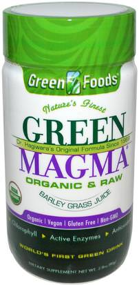 Suplementos, Superalimentos, Hierba De Cebada Green Foods Corporation, Green Magma, Barley Grass Juice, 2.8 oz (80 g)