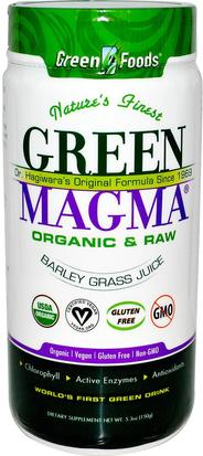 Suplementos, Superalimentos, Hierba De Cebada Green Foods Corporation, Green Magma, Barley Grass Juice, 5.3 oz (150 g)