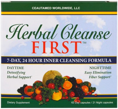 Salud, Desintoxicacion Greens First, Herbal Cleanse First, 7-Day, 24 Hour Inner Cleansing Formula, 63 Days Capsules / 21 Night Capsules