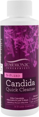 Salud, Candida Harmonic Innerprizes, N-Fuzed Candida Quick Cleanse, 4 fl oz (118 ml)