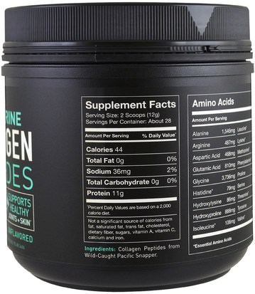 Sports Research, Wild-Caught, Pure Marine Collagen Peptides, Unflavored, 12 oz (340 g) Salud, Hueso, Osteoporosis, Colágeno
