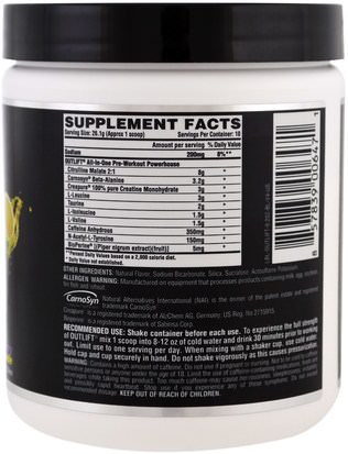 Nutrex Research Labs, Outlift, Clinically Dosed Pre-Workout Powerhouse, Blackberry Lemonade, 9.2 oz (261 g) Salud, Energía, Deportes