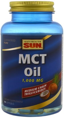 Salud, Energía, Aceite De Mct Health From The Sun, MCT Oil, 1,000 mg, 90 Softgels