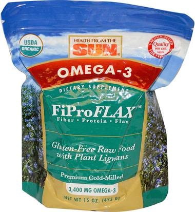 Suplementos, Semillas De Lino, Polvo De Lino Health From The Sun, Omega-3, Original FiProFlax, 15 oz (425 g)