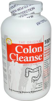 Suplementos, Cáscara De Psyllium, Cápsulas De Cáscara De Psyllium, Salud, Desintoxicación, Limpieza De Colon Health Plus Inc., The Original Colon Cleanse, One, 625 mg, 200 Capsules