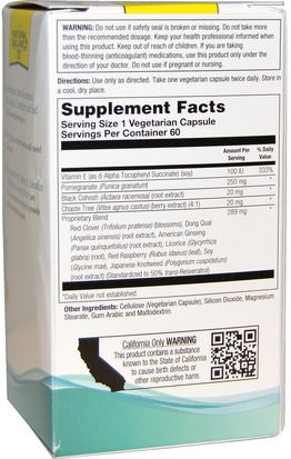 Natural Balance, Ladies Choice, Phytoestrogen Formula For Menopause Support, 60 Veggie Caps Salud, Mujeres, Menopausia