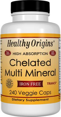 Suplementos, Minerales, Minerales Múltiples Healthy Origins, Chelated Multi Mineral, Iron Free, 240 Veggie Caps