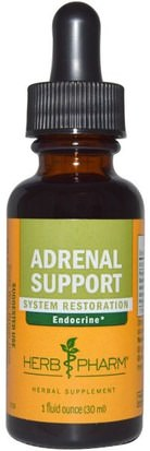 Suplementos, Suprarrenales, Salud Herb Pharm, Adrenal Support, 1 fl oz (30 ml)