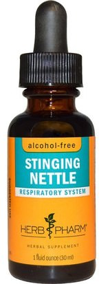 Hierbas, Ortigas, Picadura, Raíz De Ortiga Herb Pharm, Stinging Nettle, Alcohol-Free, 1 fl oz (30 ml)