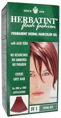 Herbatint Flash Moda Herbatint, Permanent Herbal Haircolor Gel, FF 1 Henna Red, 4.56 fl oz (135 ml)