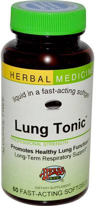 Salud, Pulmón Y Bronquial Herbs Etc., Lung Tonic, Alcohol Free, 60 Fast-Acting Softgels