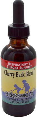 Salud, Pulmón Y Bronquial, Hierbas, Corteza De Cerezo Silvestre Herbs for Kids, Cherry Bark Blend, 2 fl oz (59 ml)