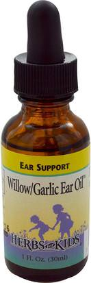 Salud, Audición Y Tinnitus, Productos Para Oídos Y Oídos, Salud Para Niños, Remedios Herbales Para Niños Herbs for Kids, Willow/Garlic Ear Oil, Alcohol-Free, 1 fl oz (30 ml)
